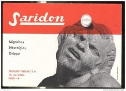 Buvard Saridon - Laboratoire Roche - Très Bon état - Produits Pharmaceutiques