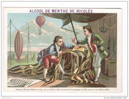 Chromo Ricqlès - 42ème Année - Joseph Et Etienne Montgolfier - Très Bon état - Chromos
