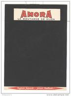Ardoise Publicitaire Cartonnée - Amora - Très Bon état - Buvards, Protège-cahiers Illustrés