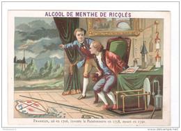 Chromo Ricqlès - 42ème Année - Benjamin Franklin - Très Bon état - Sonstige