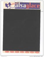 Ardoise Publicitaire Cartonnée - Alsaglace - Très Bon état - Buvards, Protège-cahiers Illustrés