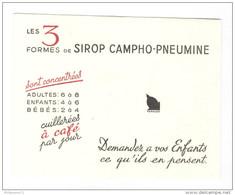 Buvard Sirop Campho-Pneumine - Très Bon état - Produits Pharmaceutiques