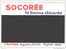 Ardoise Publicitaire Cartonnée - Socorée La Bonne Chicorée - Très Bon état - Café & Thé