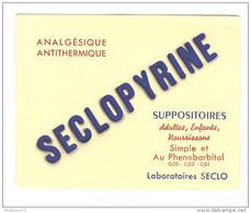 Buvard Seclopyrine - Laboratoire Seclo - Très Bon état - Produits Pharmaceutiques