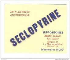 Buvard Seclopyrine - Laboratoire Seclo - Très Bon état - Droguerías