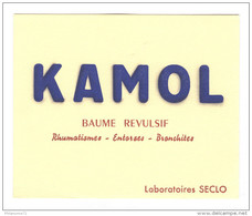 Buvard Kamol - Laboratoire Seclo - Très Bon état - Produits Pharmaceutiques