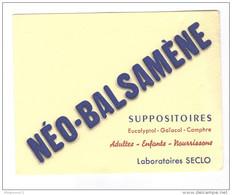 Buvard Néo-Balsamène - Laboratoire Seclo - Très Bon état - Produits Pharmaceutiques