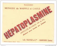 Buvard Hépatoplasmine - Laboratoire Fraysse - Nanterre - Très Bon état - Produits Pharmaceutiques