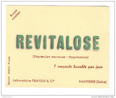 Buvard Revitalose - Laboratoire Fraysse - Nanterre - Très Bon état - Produits Pharmaceutiques