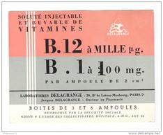 Buvard B12 B1 - Laboratoire Delagrange Paris - Bon état - Produits Pharmaceutiques
