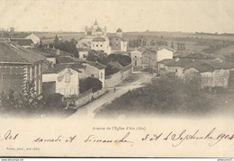CPA  Ars - Avenue De L'Eglise -  Circulé 1904 - Ars-sur-Formans