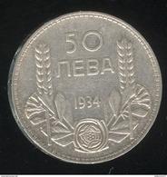 50 Leva Bulgarie 1934  TTB - Bulgarie
