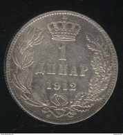 1 Dinar Serbie 1912 TTB+ - Serbia