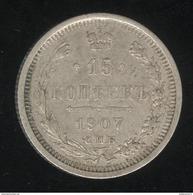15 Kopecks Russie 1907 TB+ - Russia
