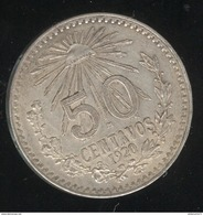 50 Centavos Mexique 1920 TTB - Mexique