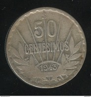 50 Centesimos 1943 Uruguay TB+ - Uruguay