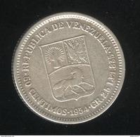 50 Centimos Venezuela 1954 TTB - Venezuela