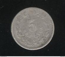 5 Centavos 1887 Mexique 1821 TB+ - Mexico