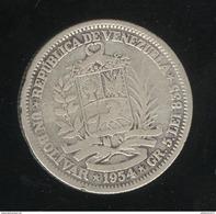 1 Bolivar Venezuela 1954 TB - Venezuela