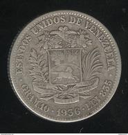 2 Bolivar Venezuela 1936 TTB - Venezuela