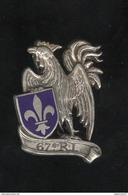 Insigne 67ème Régiment D'Infanterie - Drago - France