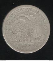 Quarter Etats Unis / United States 1873 - 1838-1891: Seated Liberty (Liberté Assise)