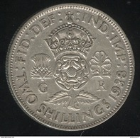 2 Shilling Grande Bretagne / United Kingdom 1938 - 1902-1971 : Monnaies Post-Victoriennes