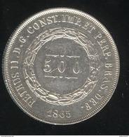 500 Réis Brésil 1865 - TTB - Brésil