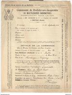 Bon De Commande à L'Institut La Claire - Radiolevure Jacquemin Ou Multilevures Radioactives - Morteau - 1915 - France