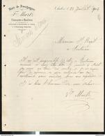 Courrier F. Martz - Viticulteur Et Propriétaire De Vignes à Chassey - Chalon Sur Saône - 1904 - France