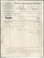 Facture Félix Dinz - Saint Jean Des Vignes Près Chalon Sur Saône - 1899 - France
