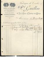 Facture P. Guillon - Fabrique De Cercles , Piquets Et échalas - Chalon Sur Saône - 1904 - France