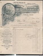 Facure Bourasset - Imprimerie Typographie & Lithographie - Chalon Sur Saône - 1896 - France