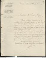 Courrier Francis Mussot - Charbons , Anthracites Et Cokes De MM. Schneider - Chalon Sur Saône - 1903 - France