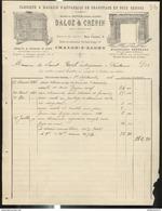 Facure Daloz Et Crépin - Appareils De Chauffage En Tous Genres - Chalon Sur Saône - 1896 - France