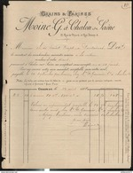 Facture Moine - Grains Et Farines - Chalon Sur Saône - 1888 - France