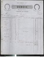 Facture Dubois - Maréchal Ferrand - Chalon Sur Saône - 1886 - France