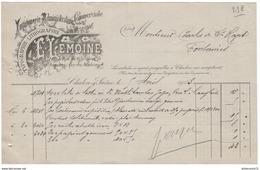 Facture Imprimerie Lemoine - 10 Rue De La Fontaine - 4 Rue Des Jacobines - Chalon Sur Saône - 1903 - France