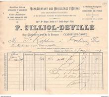 Facture Ets Filliol-Deville - Houilles , Coke , Anthracites...- Chalon Sur Saône 1903 - France