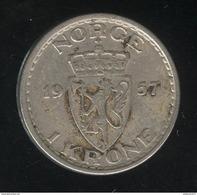 1 Couronne Norvève / Norge 1957 - TTB - Norvège