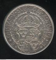 2 Couronnes Suède 1921 - TTB+ - Suède