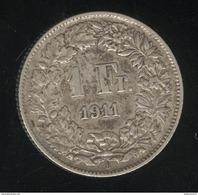 1 Franc Suisse / Switzerland 1911 - TTB+ - Suisse