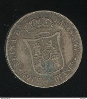 40 Centimes Espagne 1867 - Isabelle II - Collections