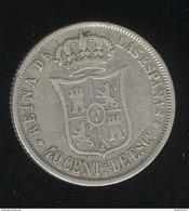 40 Centimes Espagne 1866 - Isabelle II - [ 1] …-1931 : Regno