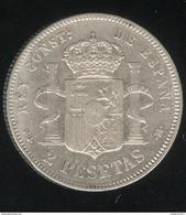 2 Pesetas Espagne 1892 - Alphonse XIII - Collections
