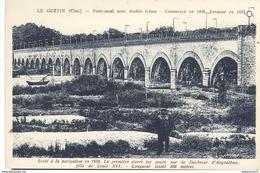 CPA  Le Guétin - Pont Canal Avec Double écluse - Circulé - Autres Communes