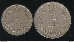 Lot Roumanie / Romania - Bon Pour 1 Leu Et 2 Lei - 1924 - Romania