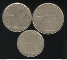 Lot Serbie / Serbia - 5 , 10 , 20 Dinar 2003 - Serbia