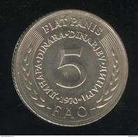 5 Dinar Yougoslavie FAO 1970 - UNC - Yugoslavia