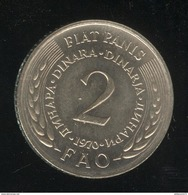 2 Dinar Yougoslavie FAO 1970 - UNC - Yugoslavia